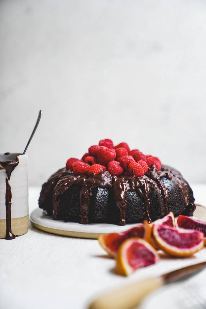 This chocolate brownie olive oil bundt cake is pure decadence and the perfect vegan indulgence thanks to the Ancient FoodsKeros Olive Oil I used.